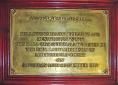 Comemorative Plaque to opening